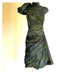 CHRISTIAN SIRIANO size 4 green dress brand new